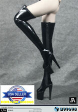 """1/6 Over The Knee Boots HOLLOW For 12"""" PHICEN TBLeague Female Figure ❶USA❶"""