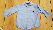 NEW. Boys H&M 9-12 mth old blue chambray long sleeved shirt