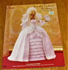 Paradise Publications: 1778 Louis Xvi Bride Fashion Doll Crochet #P-023 Vol12