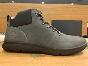 TIMBERLAND MEN'S BOLTERO LEATHER SHOE HIKER DARK GREY NUBUCK TB 0A1UC5 C64