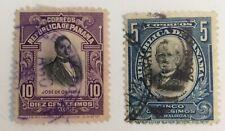 Panama and Canal Zone stamps Arosemena 5c, Obaldia 10c