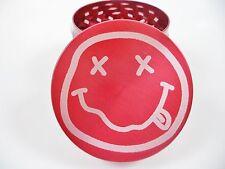 Nirvana Smiley Face Laser Etched 4 Piece Metal Herb Grinder