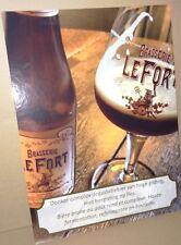 cadre Plaque carton publicitaire bar bistrot Bière LEFORT