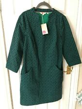 New Boden Elizabeth Dress - Green Sweet Petal, UK 12, RRP £70