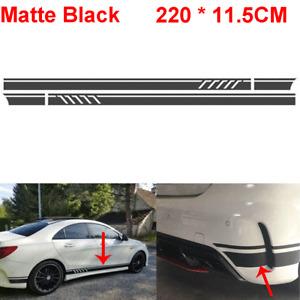 2 Matte Black Car Door Body Side Stripe Sticker Graphics Decal for Mercedes Benz
