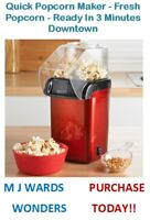 Quick Popcorn Maker - Fresh Popcorn - Ready In 3 Minutes - Downtown