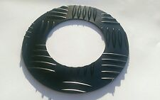 Land Rover Defender 90, Side Exit Exhaust Trim Plate Chequer Plate, Powder Black