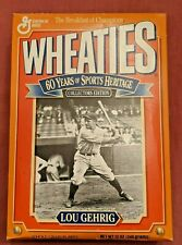 "Lou Gehrig Wheaties unopened box ""60 years of sports heritage"" edition (1993)"