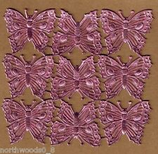 BUTTERFLY WINGS PINK INSECT MOTH SPRING COLLAGE GERMANY DRESDEN FOILED EMBOSSED