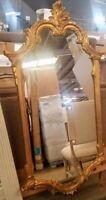 Labarge Maitland Smith Mirror / Antique Gold Metal Leaf
