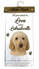 LABRADOODLE BLONDE DOG COTTON KITCHEN DISH TOWEL