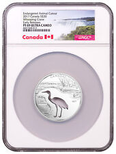 2017 Canada Endangered - Cutout Whooping Crane Silver $30 NGC PF69 ER SKU50205