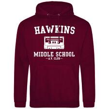 Hawkins Middle School Stranger Things Hoodie - Inspired Novelty Hoody Adult Kids