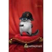 Modern Russian Postcard Gift Blue Cats Kitty Kitten Unposted Art Zenyuk