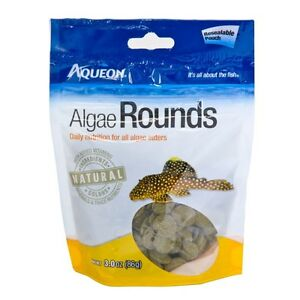 Aqueon Algae Rounds Resalable Pouch 3oz  Free Shipping