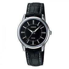 Casio New Original LTP-1303L-1A Analog Womens Watch Black Leather LTP-1303