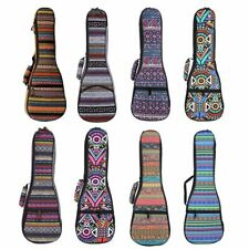 """21/23"""" Soprano Ukulele Gig Bag Folk Concert Uku 10mm Soft Padded Uke Bag Cases"""