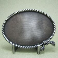 Buckle Western Rope, Rope, Real Silver Edition, Cowboy, Belt Buckle