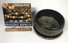 More details for large om mandala tibetan mantra metal meditation singing bowl buddha design book
