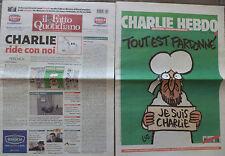 """GIORNALE-""""IL FATTO QUOTIDIANO + CHARLIE HEBDO"""".  DEL 14 GENNAIO 2015."""