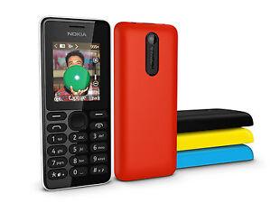 Nokia 108 Dual Sim FM Radio GSM Bluetooth phone English/Russian/Arabic keyboard