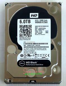 """Western Digital WD Black HDD WD6001FZWX 6TB w/ 128MB Cache 6Gb/s 3.5"""" FedEx"""