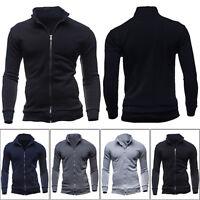 Men'S Fleece Zip Up Slim Jumper Pullover Sweatshirt Coat Jacket Outwear Tops
