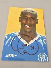 CARLTON COLE  FC Chelsea  7 LS England In-person signed  Foto 10 x 15