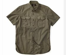 RRL Ralph Lauren 1930s  Washed Olive Cotton Twill Military Work Shirt-MEN--S