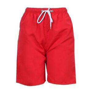 Men Summer Beach Pants Quick Dry Mesh Lining Magic Cloth Swim Trunks Surf Shorts