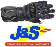 Gants bleu en cuir pour motocyclette