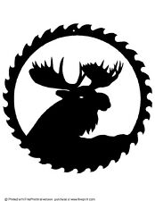MOOSE HEAD  SAW BLADE ART STEEL YOUR CHOICE OF POWDER COAT FINISH COLOR