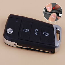 Blank Folding Key FOB Case Shell Replacement Uncut Blade fit for VW Golf 7 MK7