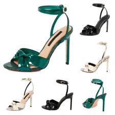 Apenas hay Tacones señoras para mujer Tacón Alto Sandalias Zapatos al tobillo Wrap