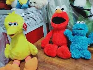 Plush Elmo Cookie Monster Big Bird Sesame Street Soft Toy Teddy