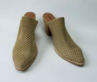 Jeffrey Campbell Shoes Mules Heels Perforated Slip On Beige Favela 2C Size 11