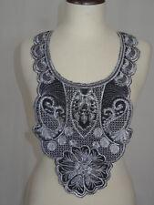 Embroidered Neckline Collar Trim Cloth Sewing Applique Lace Patch NE19