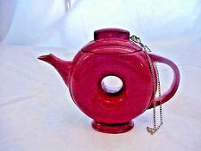 NINI RED DONUT HOLE TEA POT  TRINKET POT