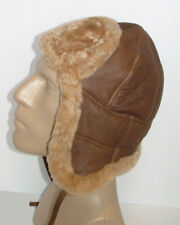 NEW! Handmade Sheepskin Bomber Aviator Hat Real Leather size L * DISCOUNTED! *