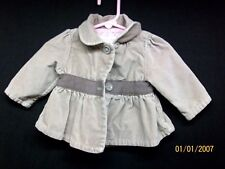 Baby Girls Genuine Kids From Oshkosh Brown Button Up Jacket Coat Sz 6 Months EXC