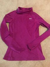 Under Armour Cold Gear L/S Fitted Running Shirt Fuchsia Am Thumb Holes