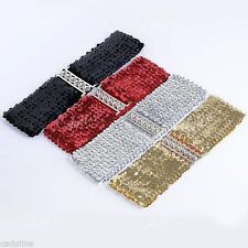 Unbranded Sequined Wide Belts for Women