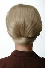 Bun Knot of Hair Wide Half Wig Attachment 50er 60er Tower Hairstyle Ash Blond