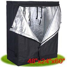 "48""x24""x60"" Indoor Grow Tent Room Reflective Mylar Hydroponic Non Toxic Hut"