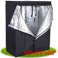 "48""x24""x60"" Indoor Grow Tent Room Reflective Hydroponic Non Toxic Hut"