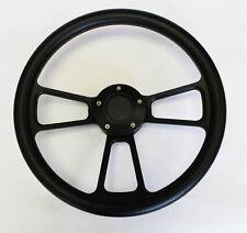 "1976 - 1995 Jeep Wrangler YJ CJ Cherokee Black on Black Steering Wheel 14"""