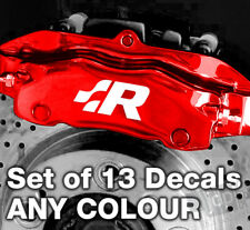 VW Golft R32 Quality Brake Caliper Decals Stickers - ANY COLOUR