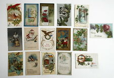 LOT OF 32  MERRY CHRISTMAS  ANTIQUE POSTCARDS SOME SANTA CLAUSE ETC