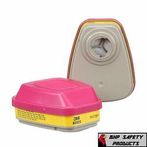 3M 60923 Organic Vapor/Acid Gas Replacement Respirator Cartridge/Filter, 1 Pair