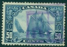 "CANADA #158 50¢ ""Bluenose"", used, Scott $65.00"